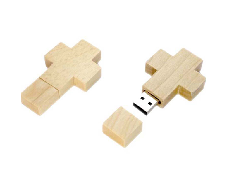 Cross shape environmental wooden usb H907