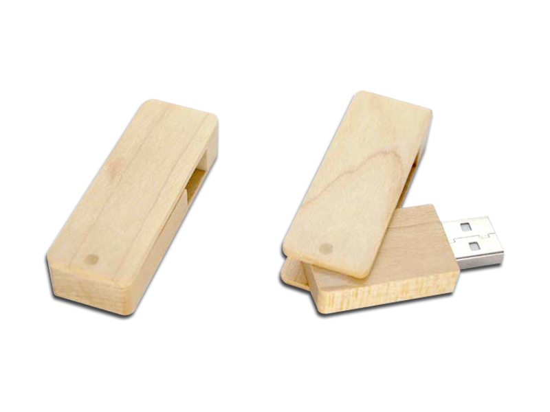 Swivel wood USB H918